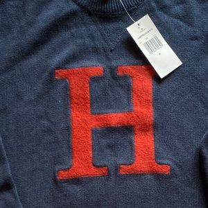 Tommy Hilfiger dark blue long sleeve man sweater